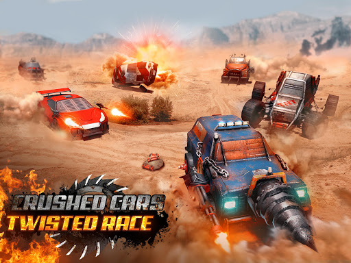 Crushed Cars 3D - Extreme car racing shooter  gameplay | by HackJr.Pw 6