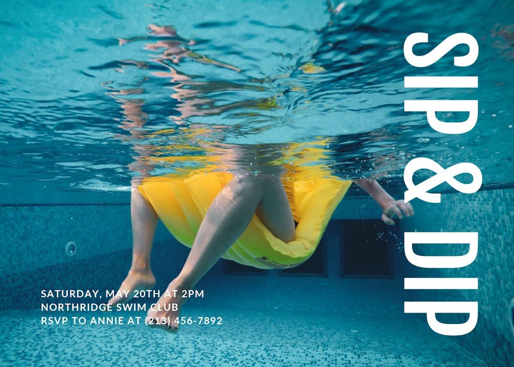 Sip & Dip Saturday - Photo Card Template