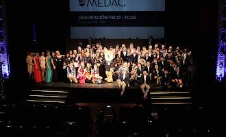 Graduación de alumnos de TECO y TCAE de MEDAC