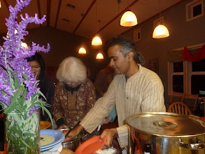 Photo: murthy serving dessert  mung dal pudding .jpg