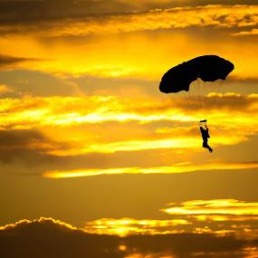 Sunset Gliding by Joseph Molde - Sports & Fitness Other Sports