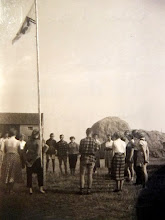 Photo: JB kamp 1957 op Ameland, de dagopening