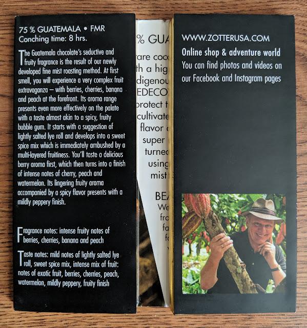 75% Guatemala Zotter bar