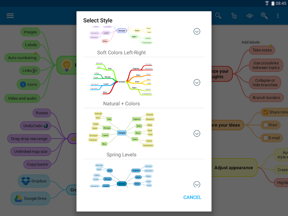 SimpleMind Pro - Intuitive Mind Mapping: captura de pantalla