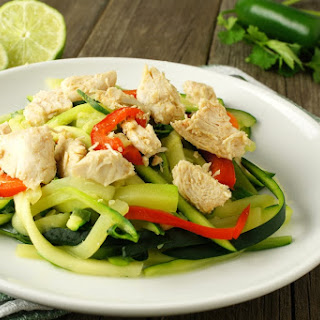 Thai Chicken Salad With Cucumber Noodles