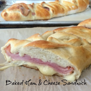 Baked Ham and Cheese Sandwich