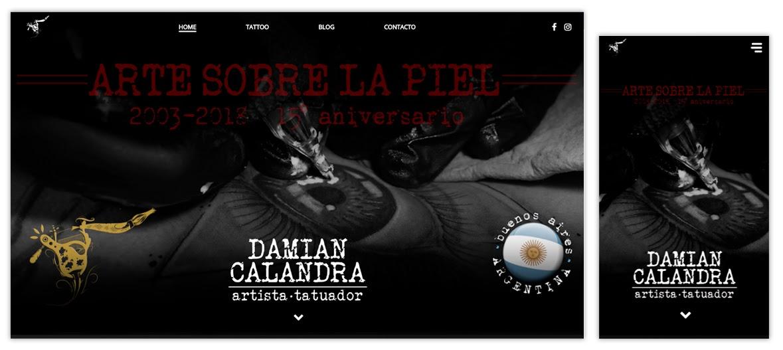 Sitio web Damián Calandra