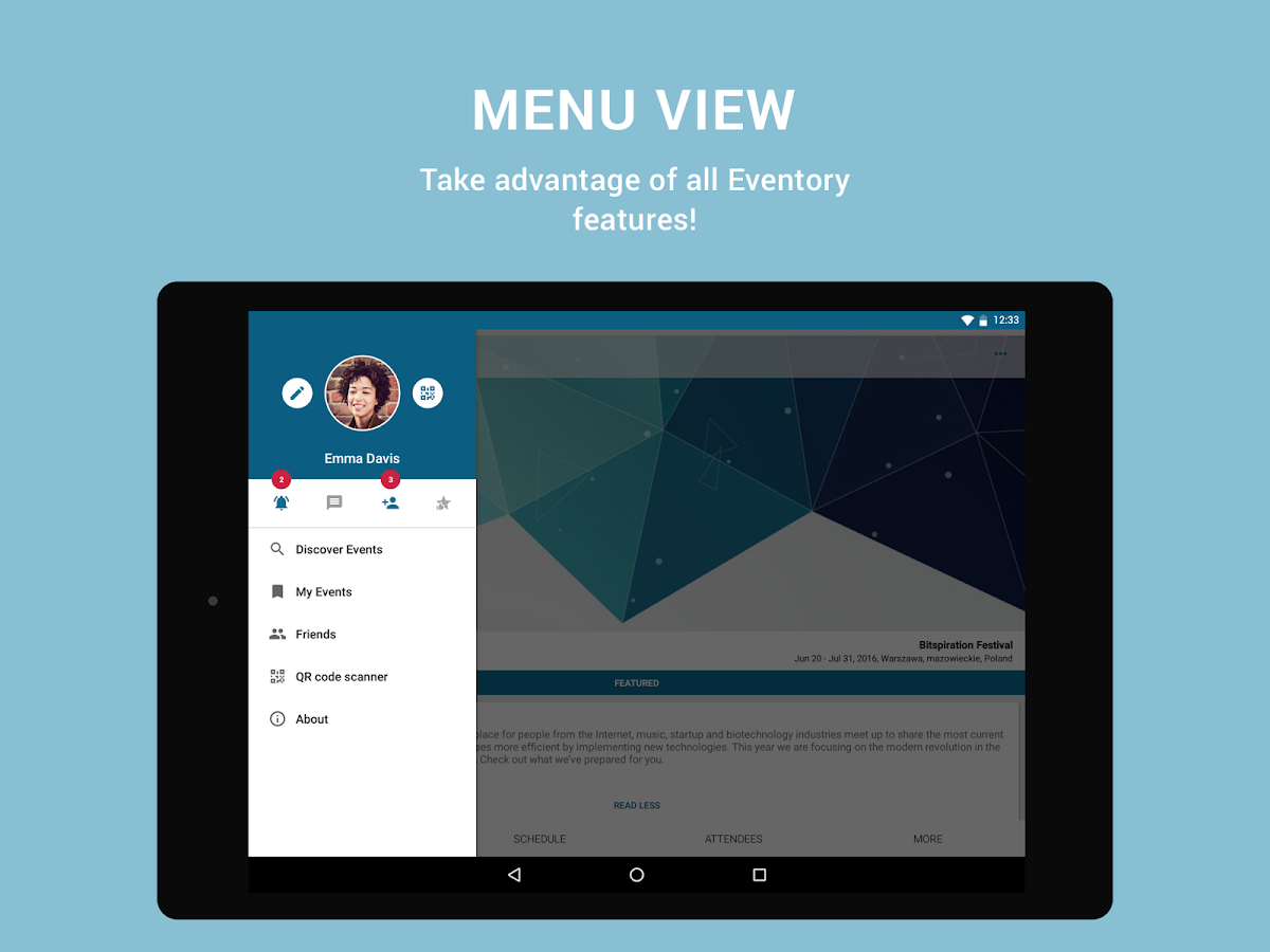 Eventory - all-in-one event platform- screenshot