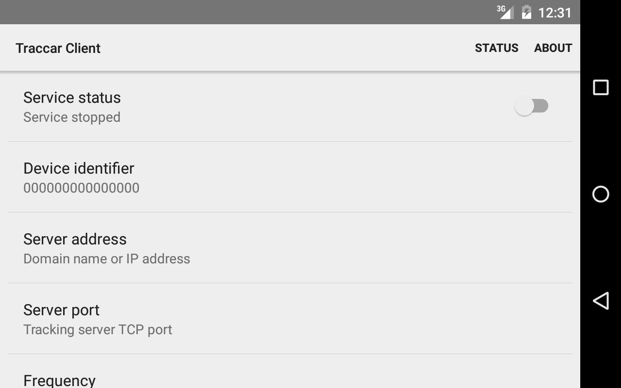 Traccar Client- screenshot