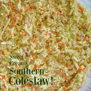 Sweet Creamy Southern Cole Slaw!