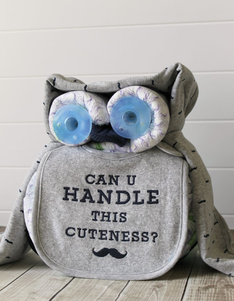 Boy Owl Diaper Cake Tutorial