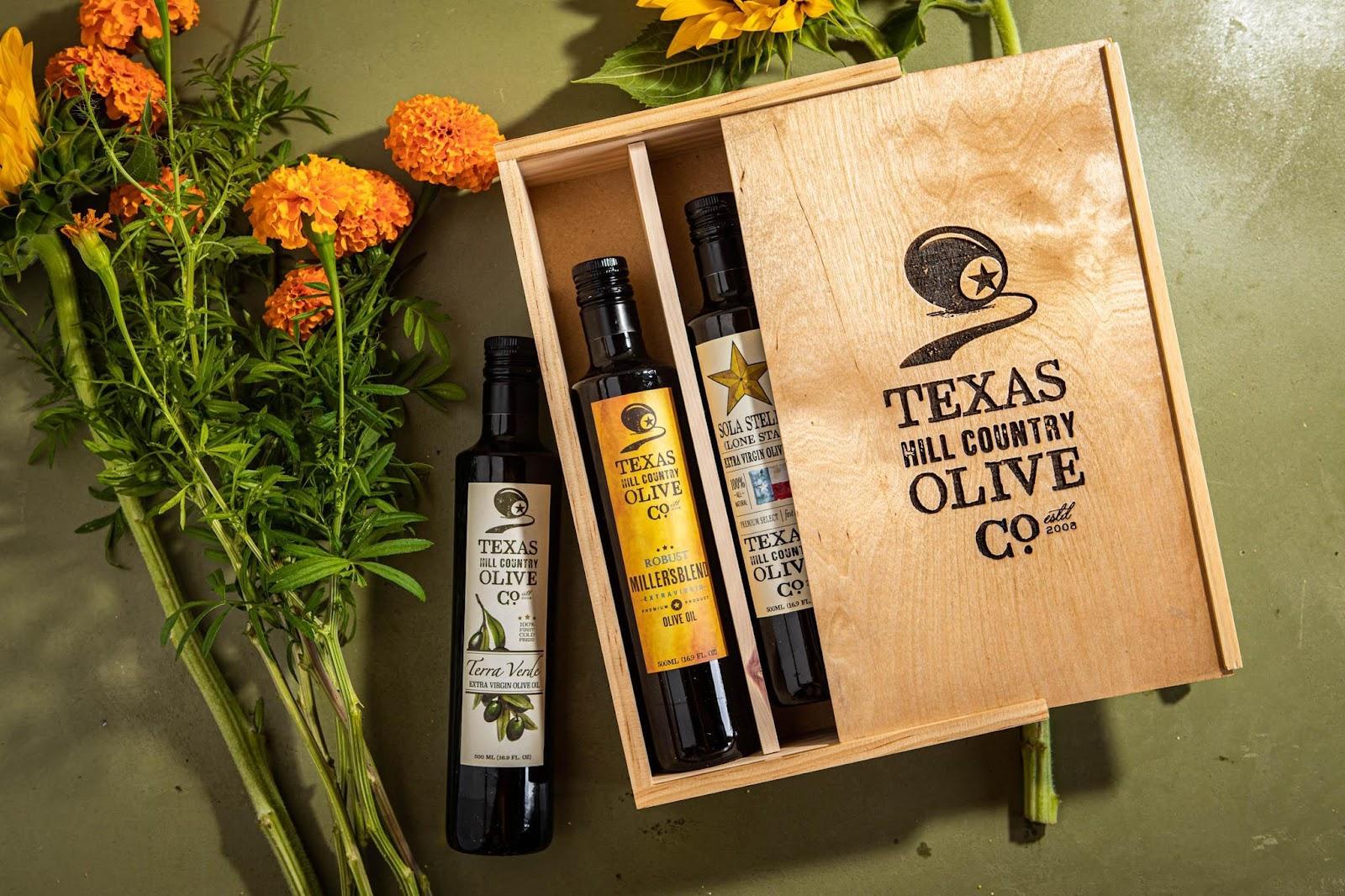 Texas olive oil flight