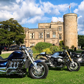 Lazing on a sunny afternoon.... in the summertime by Bob Brown - Transportation Motorcycles ( triumph, harley, castle, motorcyclles, bmw )