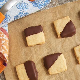 Chocolate-Dipped Hazelnut Shortbread