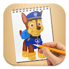 How to draw paw patrol icon