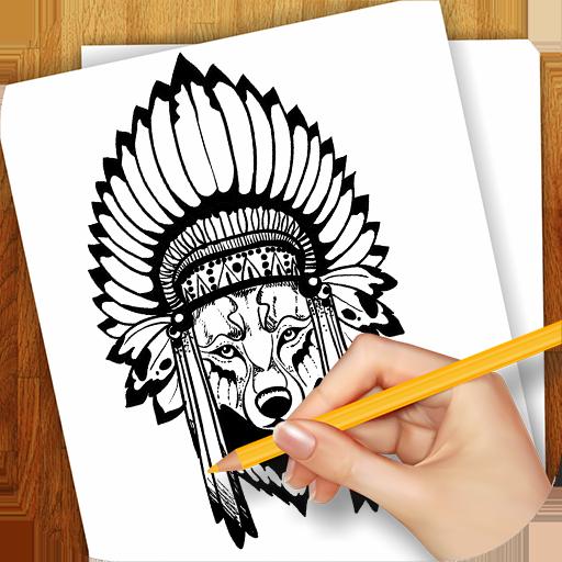 学画画的纹身图案 教育 App LOGO-APP試玩