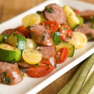 Sweet Italian Sausage with Zucchini and Tomatoes