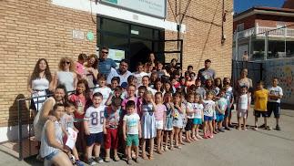 Alumnos de la escuela de verano de Fiñana.