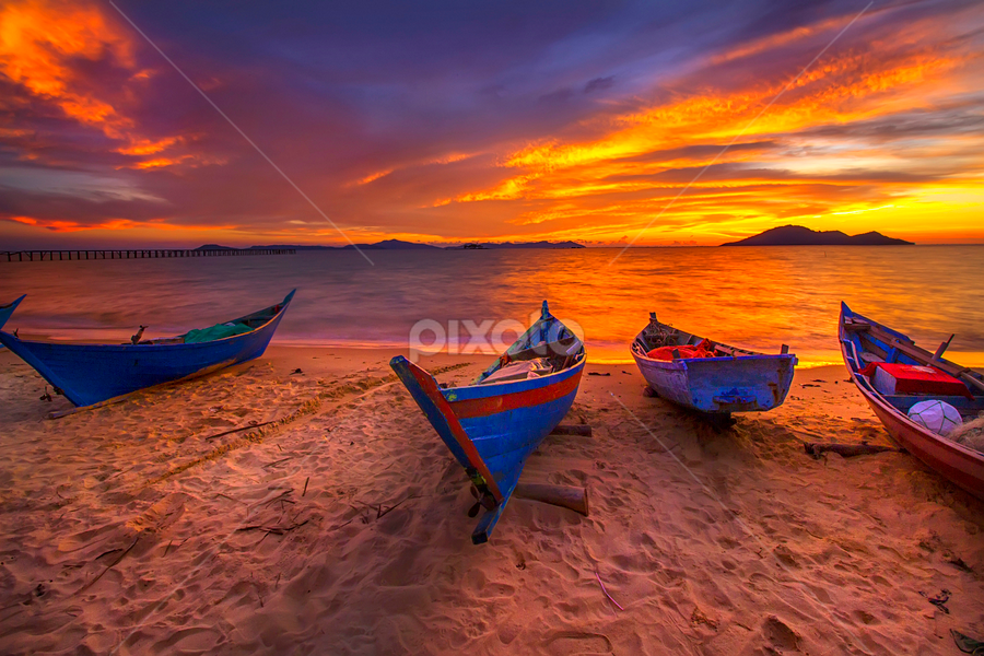 parking at the beach by Dany Fachry - Transportation Boats (  )