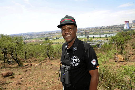 Raymond  Rampolokeng  is a professional  bird guide for tourists  and an enterpreneur with a wealth of experience in and around Soweto and  Gauteng. / Veli Nhlapo