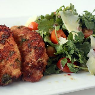 Chicken Milanese with Anchovy Vinaigrette