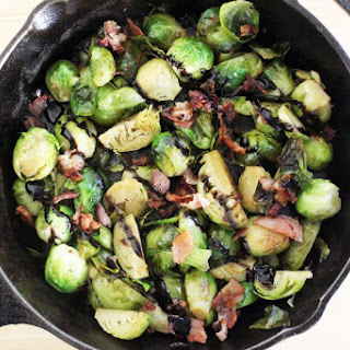 Braised Brussels + Bacon + Balsamic