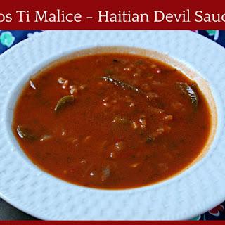 Haitian Sos di Malice – Devil Sauce.