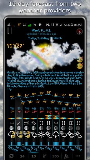 Weather, rain radar, barometer - eWeather HDF Apk 1