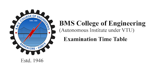 BMSCE Exam Time Table - Apps on Google Play