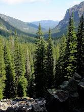 Photo: View down Hyalite Canyon
