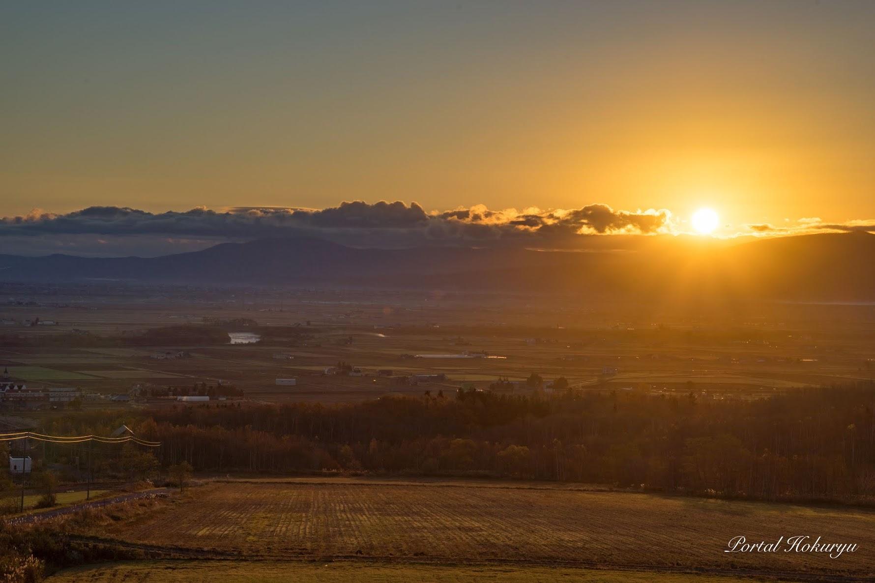立冬の朝陽