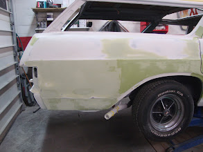 Photo: Metal work is now done on the damaged quarter panel. Now we can get to the body work.
