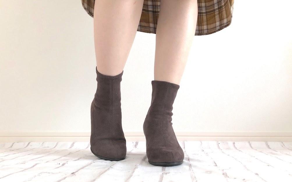 ユニクロ ストレッチ ショート ブーツ