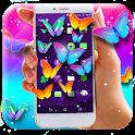 Neon Butterflies On Screen icon