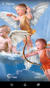 Baby Cupid Live Wallpaper screenshot 0