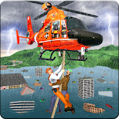 Urban Flood Rescue Heli Team Hurricane Mission 3D