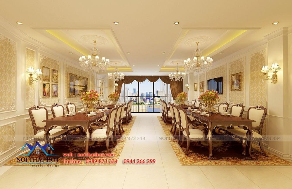 thiết kế nội thất nhà hàng đẳng cấp tại Hà nội