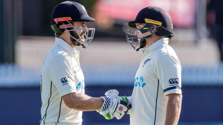 Williamson and Latham batting together