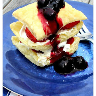 Red, White, and Blue Triple Berry Napoleon