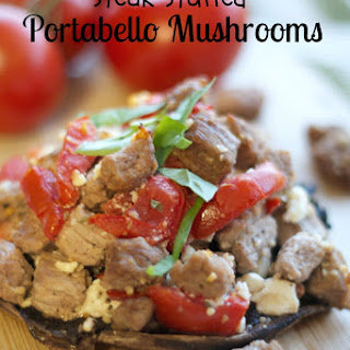 Take a Break & Steak Stuffed Portabello Mushrooms
