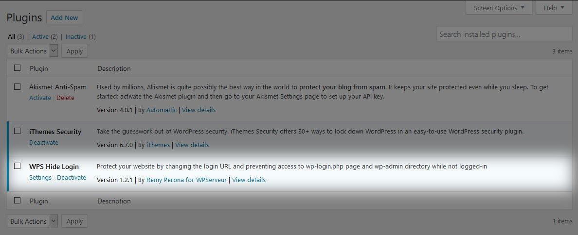 Plugin WordPress được kích hoạt thành công