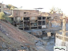 Photo: Zona de trituración. Se alimentaba desde el plano inclinado o por el transporte de los Aveling