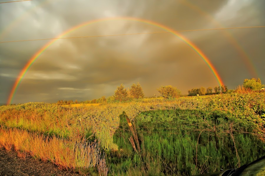 Double Rainbow by Jon Morgan - Landscapes Weather (  )