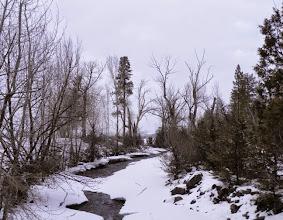 Photo: The icy Wallowa River