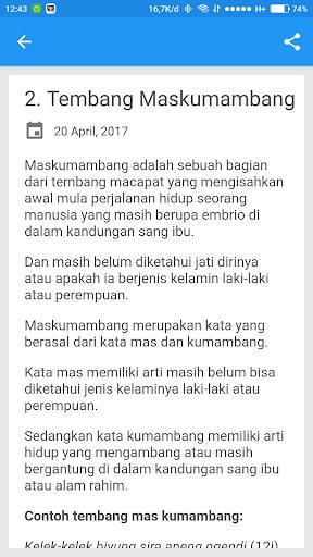 Download Tembang Macapat Jawa Lirik Google Play Softwares