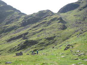 "Photo: We see numerous other hikers (modestly called ""walkers"" in England)."