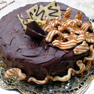 Chocolate Chiffon Cake With Salted Caramel Cream