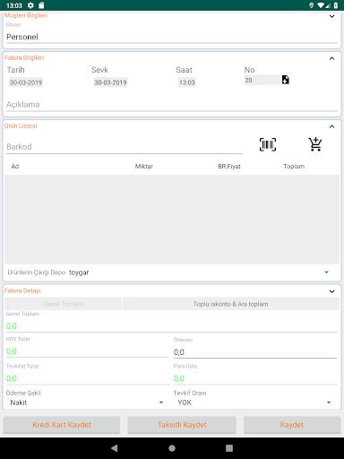 Bilsoft Mobil Ön Muhasebe V2.1 Beta screenshot 15