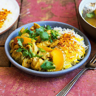 Slow Cooker Persian Peach and Chicken Stew (Khoresh-e Holu).