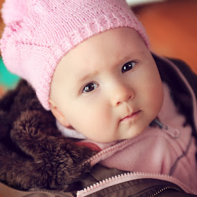 baby by Boštjan Vučak - Babies & Children Child Portraits ( lovely, candid, baby, hat, no smile )